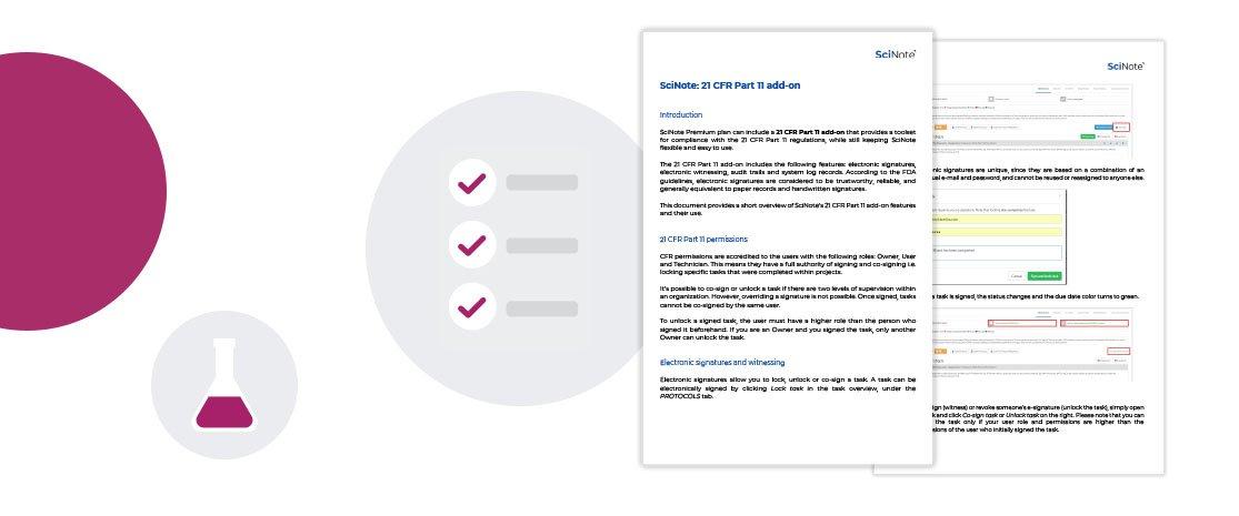 21 CFR Part 11 compliance