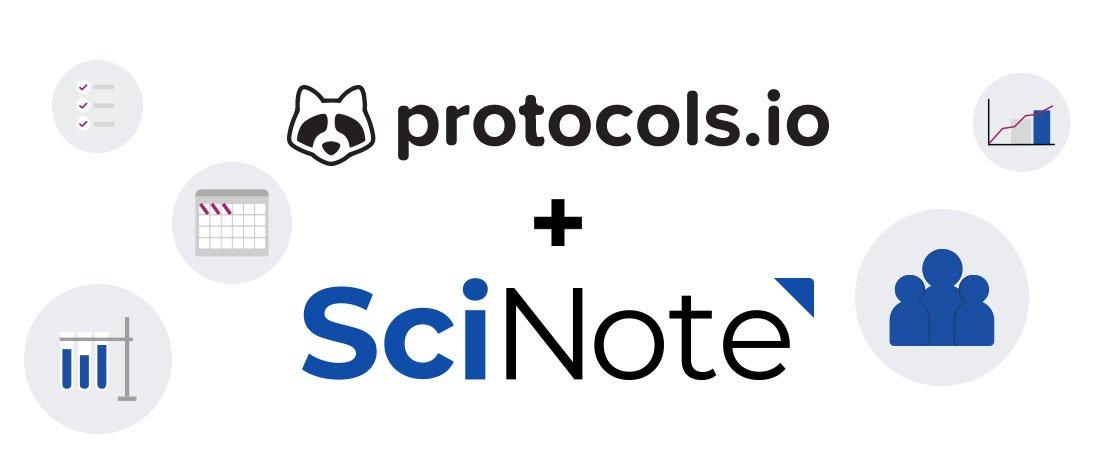 Protocols.io and SciNote integration
