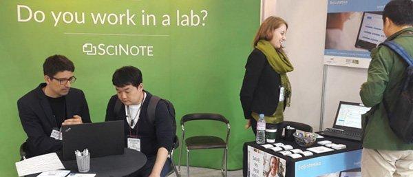 SciNote team at Korea Lab 2019