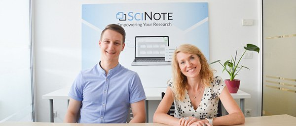 Klemen and Sasa presenting new SciNote features