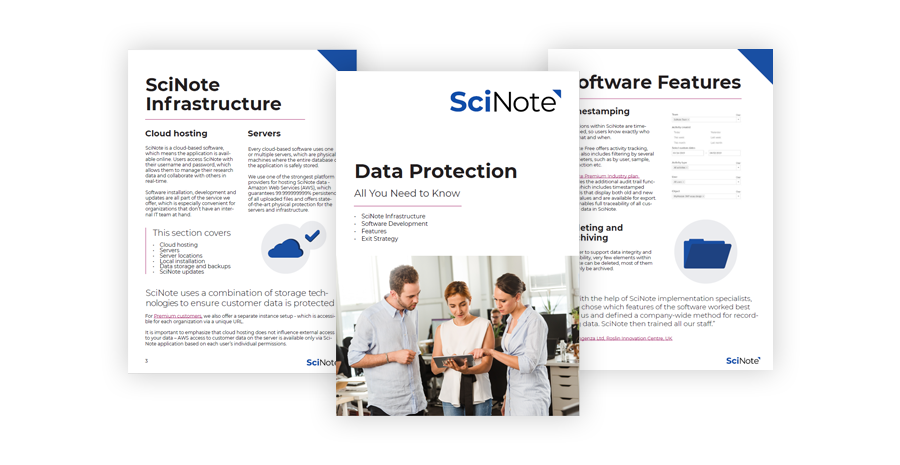 SciNote White paper preview