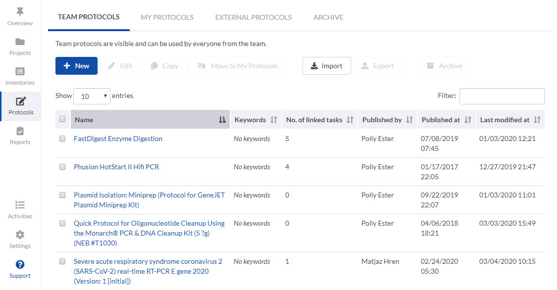 Protocol repository
